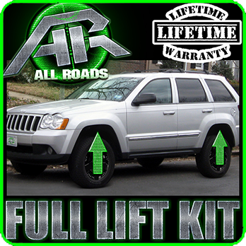 05 10 jeep wk grand cherokee 2 5 front 2 rear full lift leveling kit 4wd 2wd ebay. Black Bedroom Furniture Sets. Home Design Ideas